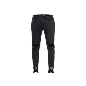 DESTROYED DENIM - BLACK - A3B