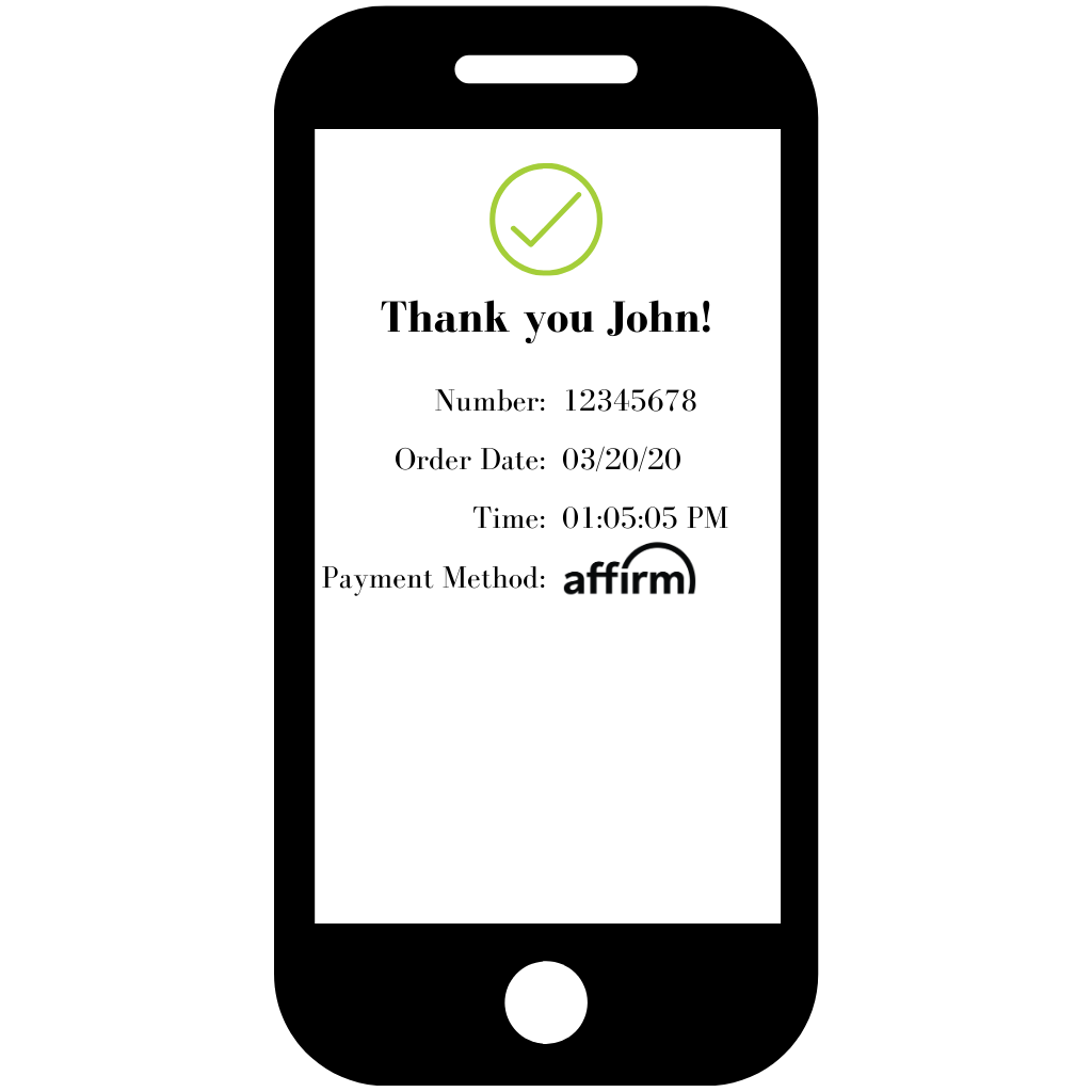 Finish payment with affirm