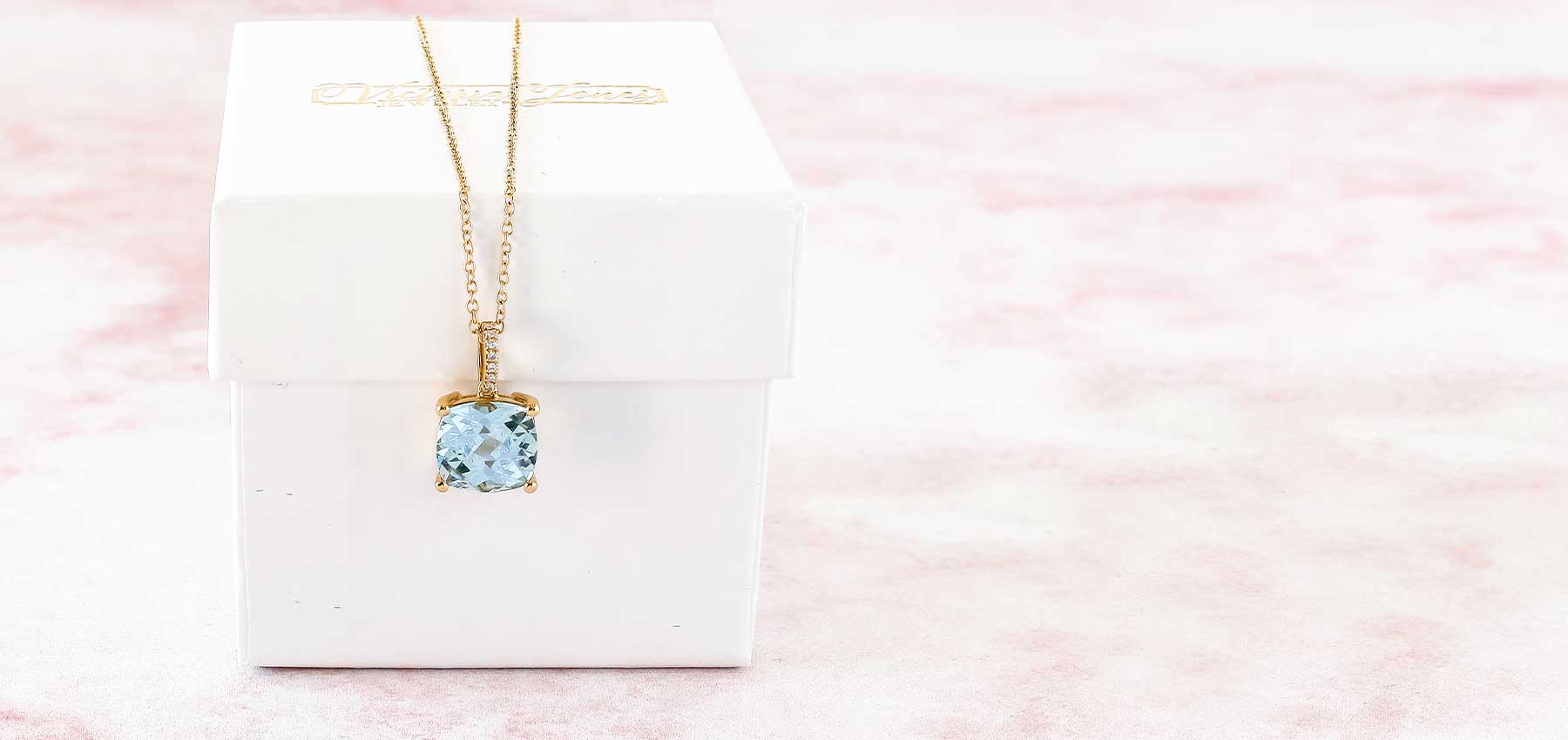 Blue Topaz Yellow Gold Necklace