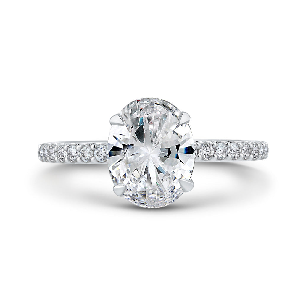 Diamond Oval Solitaire Engagement Ring