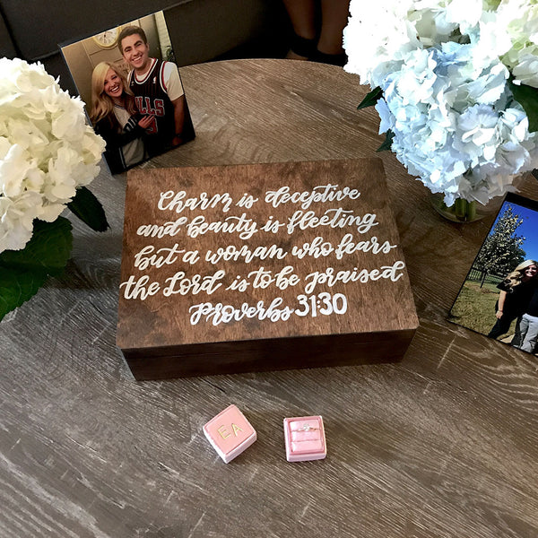 Love Letter Wooden Box Proverbs 31:30