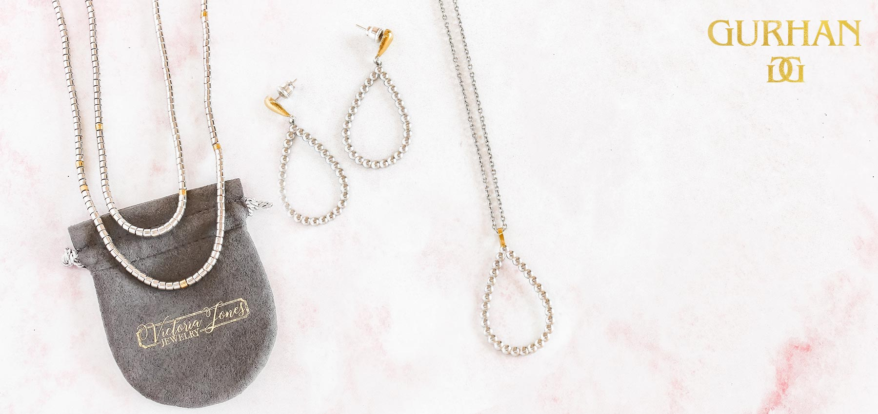 Gurhan sterling silver and 24k gold necklaces and earrings