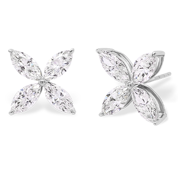 Diamond Marquise Earrings