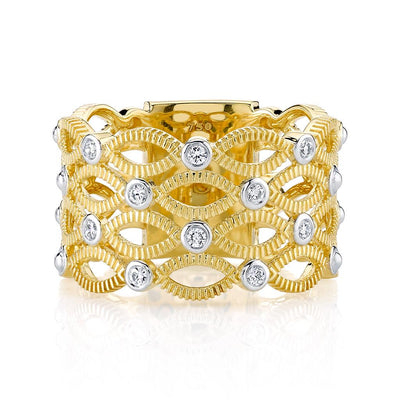Marquise & Diamond Open Band Ring