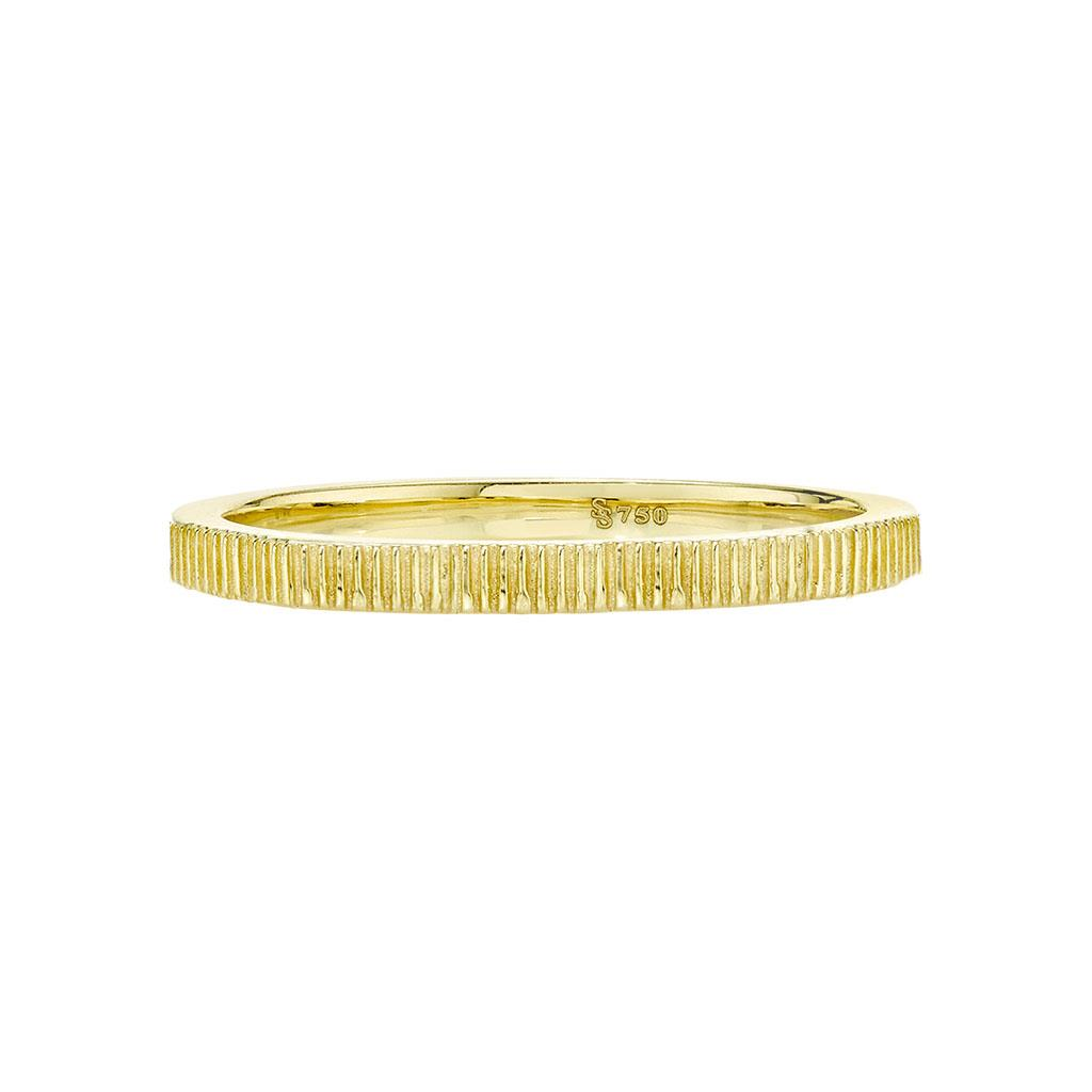 18k yellow gold band