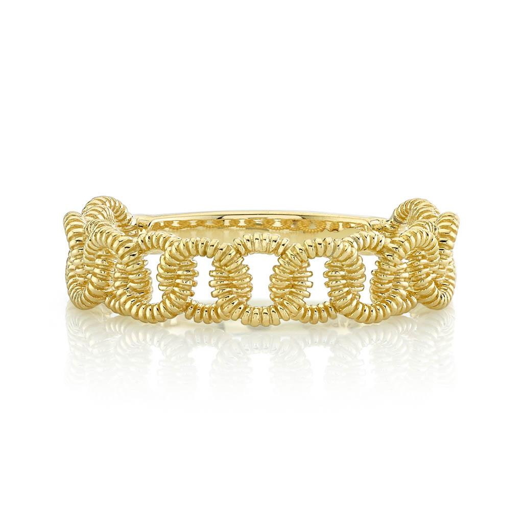 Link Yellow Gold Ring