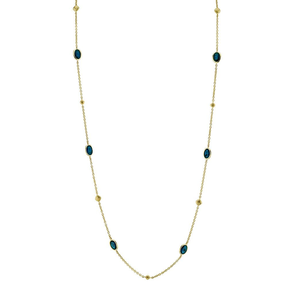 London Blue Topaz Station Long Necklace