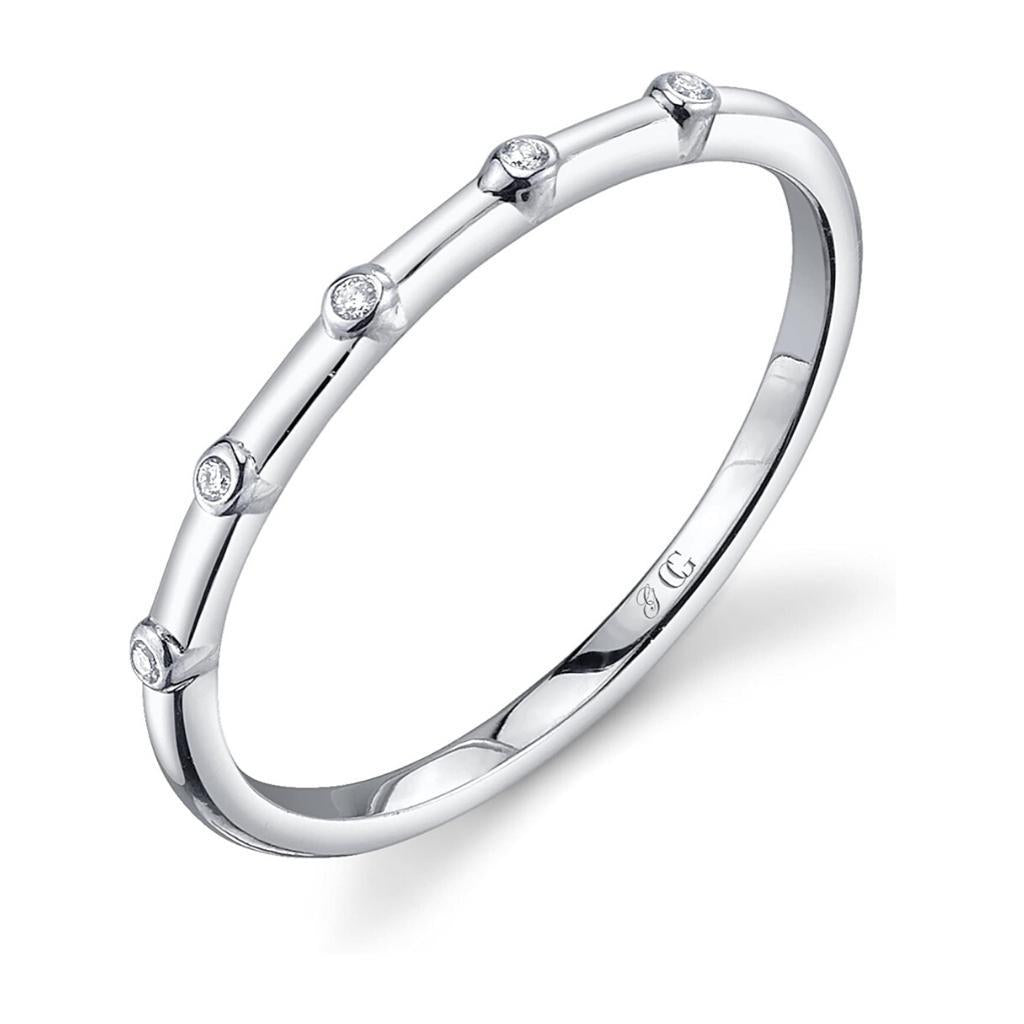 Diamond Sterling silver stackable ring