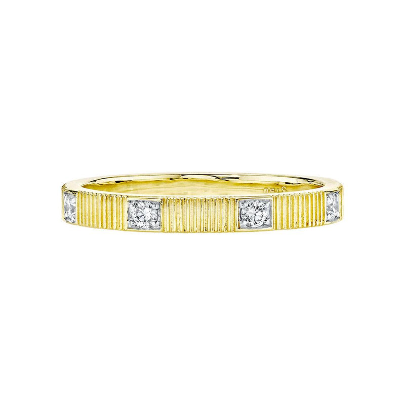 Yellow Gold and Diamond Stackable Ring