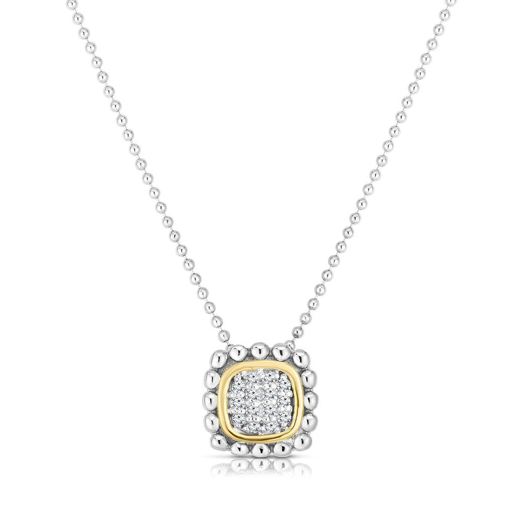 Diamond Pave Two toned necklace
