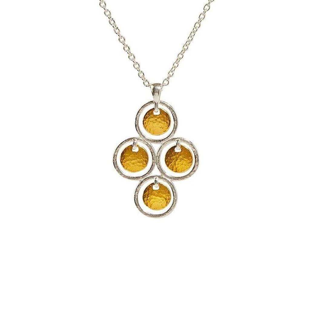 Chandelier two-toned pendant necklace Gurhan