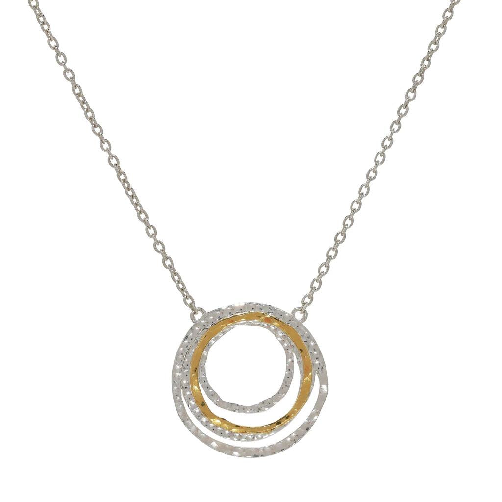 Gurhan multi circle two-toned pendant necklace