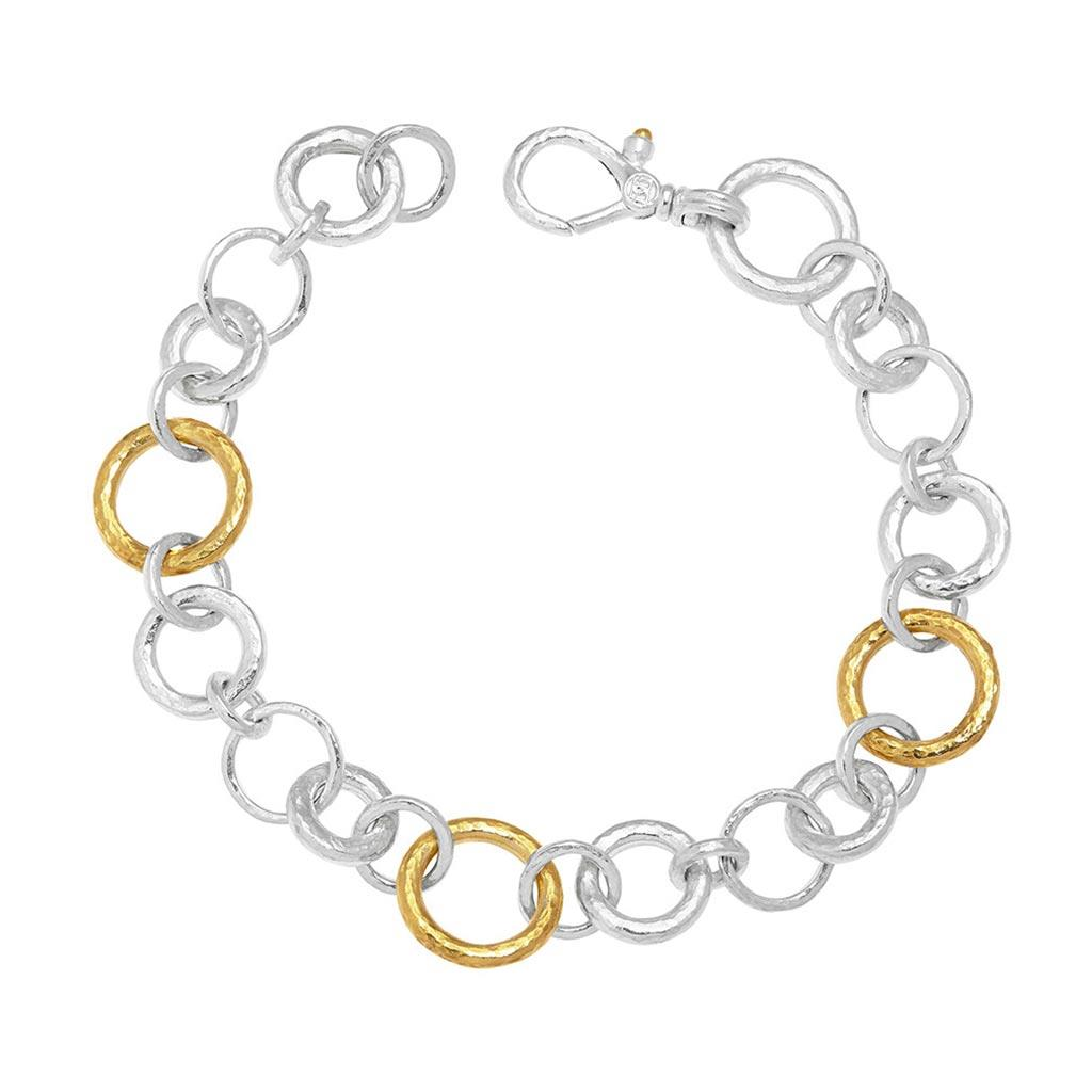 gurhan mixed link two toned bracelet