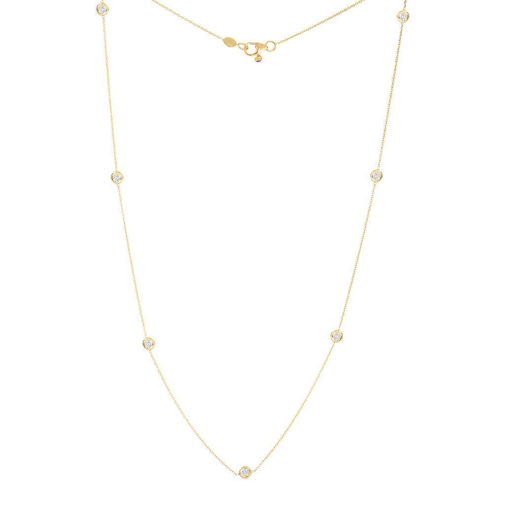 Roberto Coin diamond by the inch necklace yellow gold
