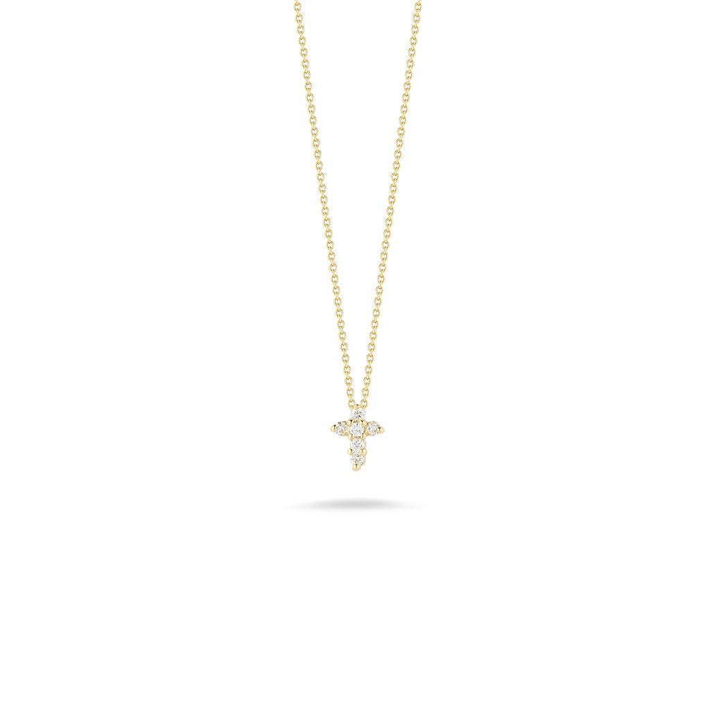 Roberto Coin Diamond cross yellow gold