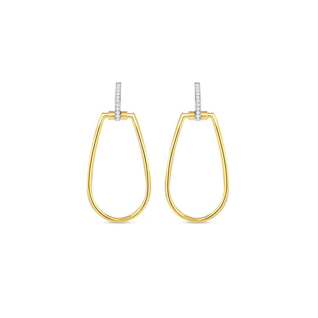 Roberto Coin yellow gold dangle diamond earrings