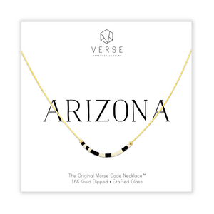 Arizona Morse Code Chain Necklace