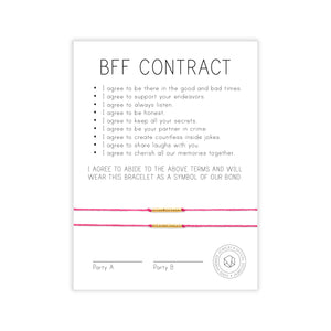 BFF Contract Wish Bracelet Set