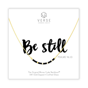 Be Still Morse Code Chain Necklace