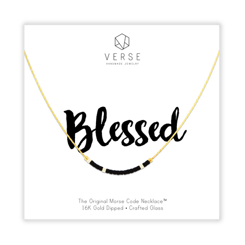 Blessed Morse Code Chain Necklace