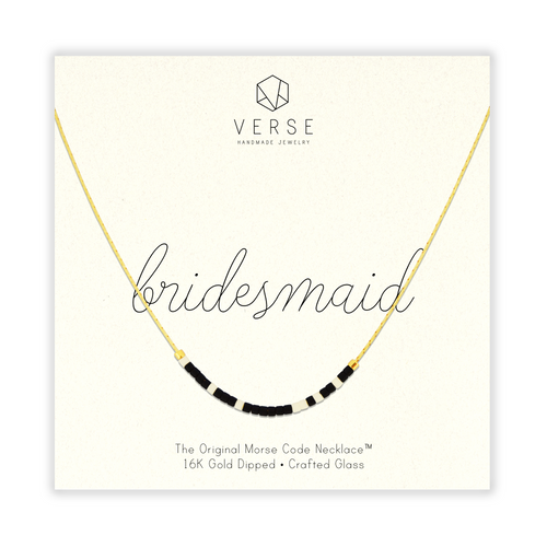 Bridesmaid Morse Code Chain Necklace