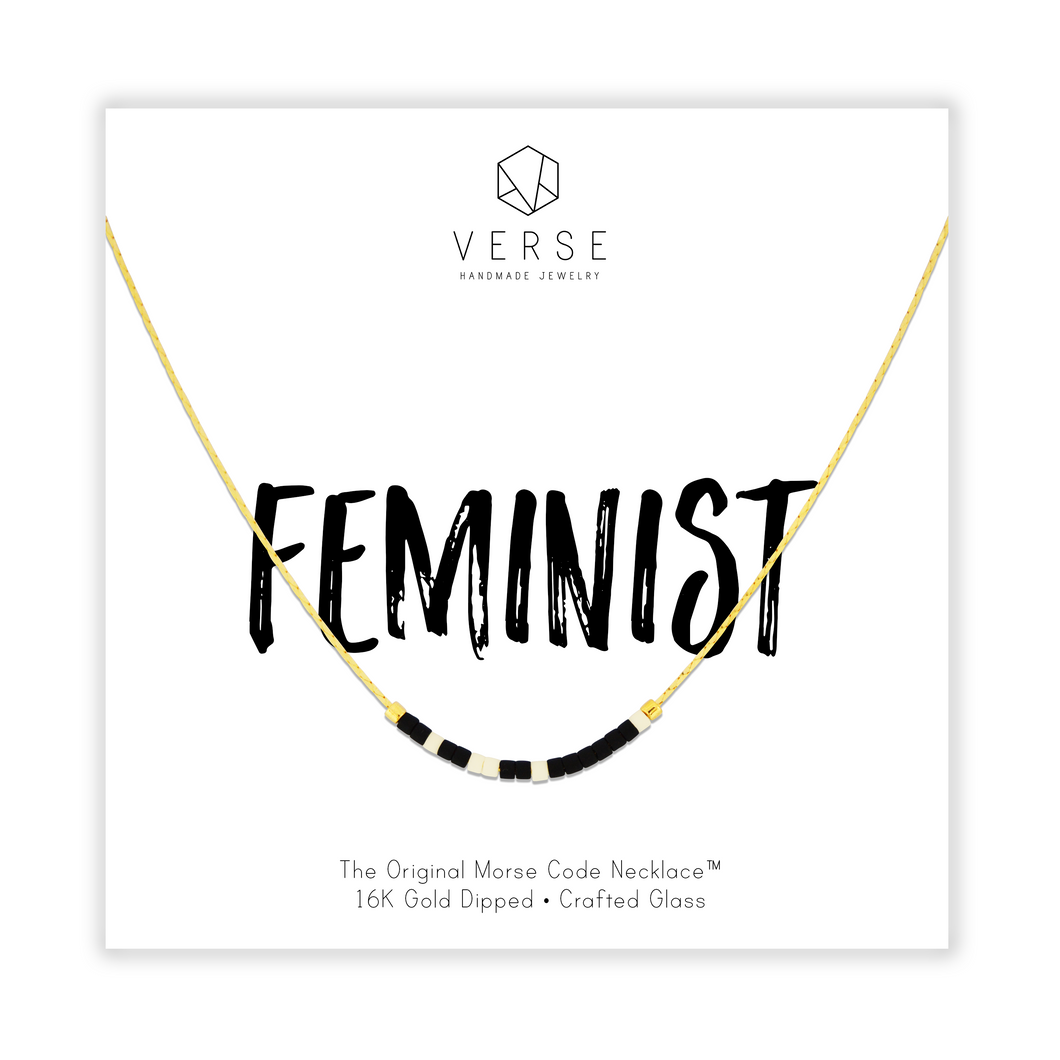 Feminist Morse Code Chain Necklace