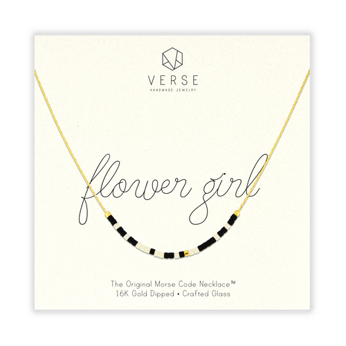 Flower Girl Morse Code Chain Necklace