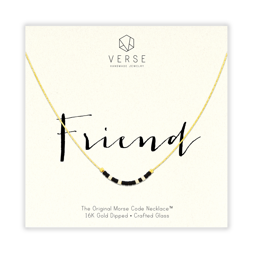 Friend Morse Code Chain Necklace