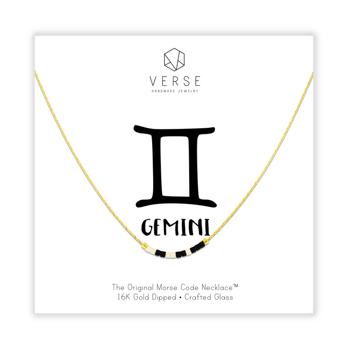 Gemini Morse Code Chain Necklace
