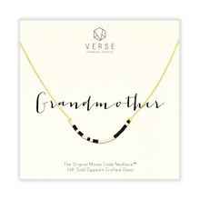 Grandmother Morse Code Chain Necklace