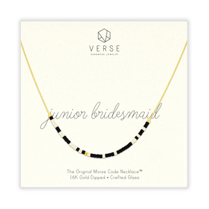 Junior Bridesmaid Morse Code Chain Necklace