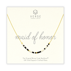 Maid of Honor Morse Code Chain Necklace