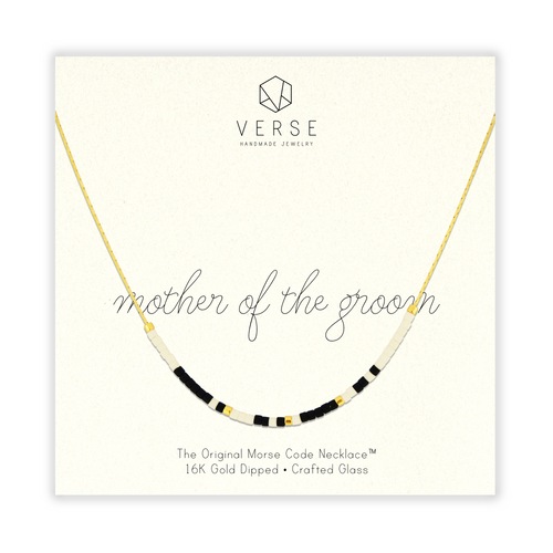Mother Of The Groom Morse Code Chain Necklace