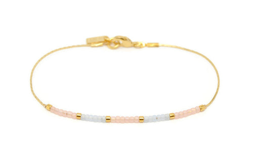 Adela - Baby Pink and Baby Blue Beaded Bracelet