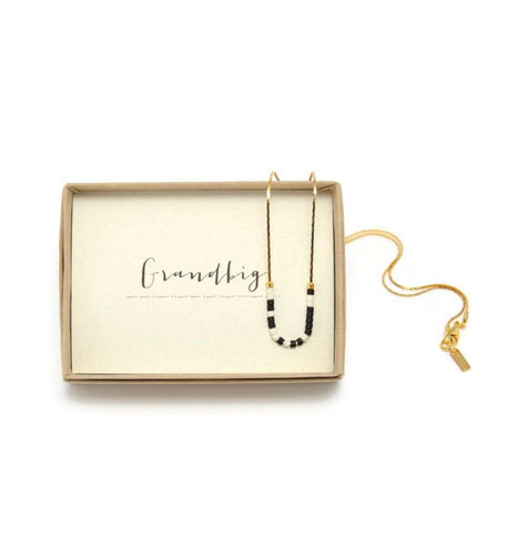 Grandbig Morse Code Chain Necklace