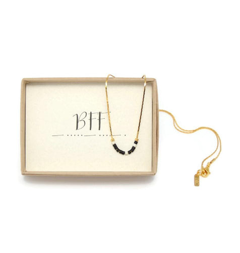 BFF Morse Code Chain Necklace