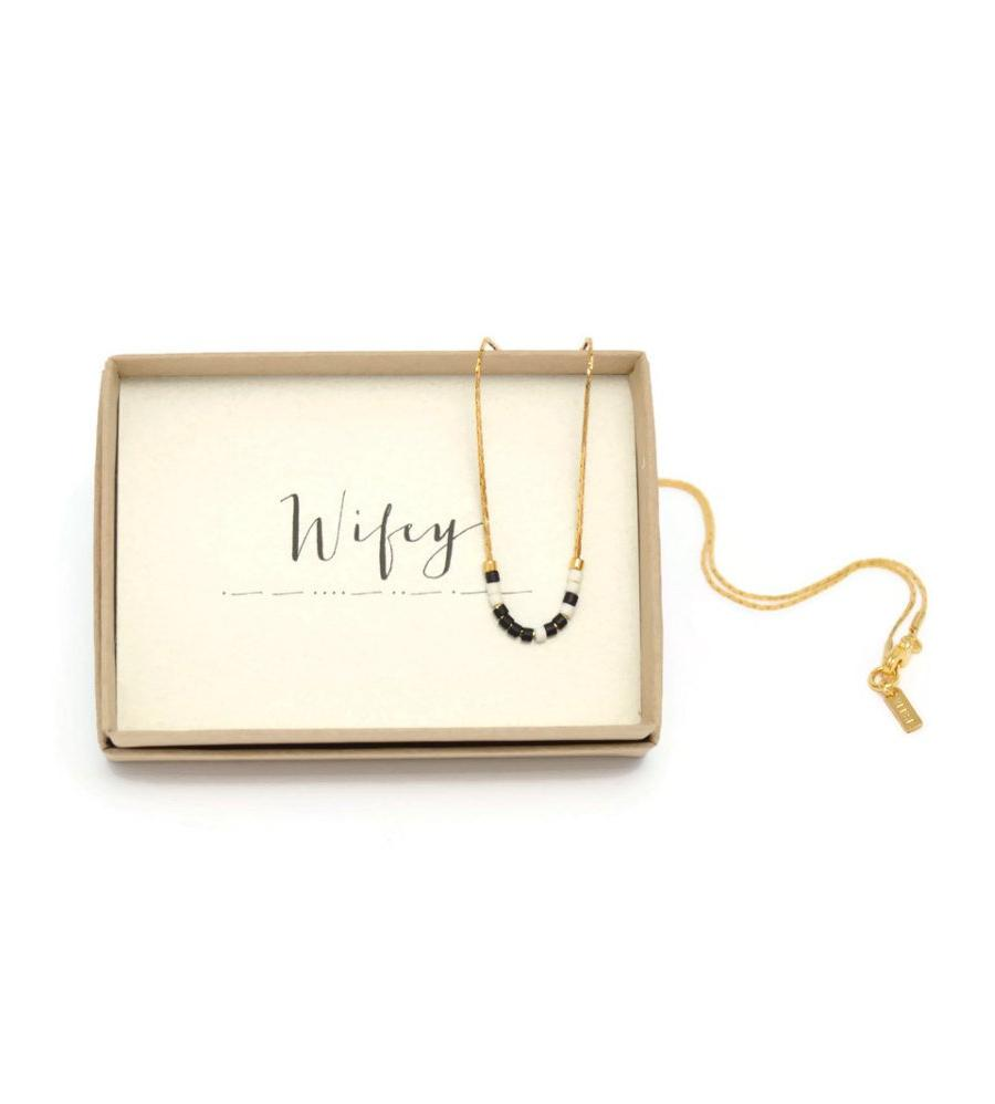 Wifey Morse Code Chain Necklace