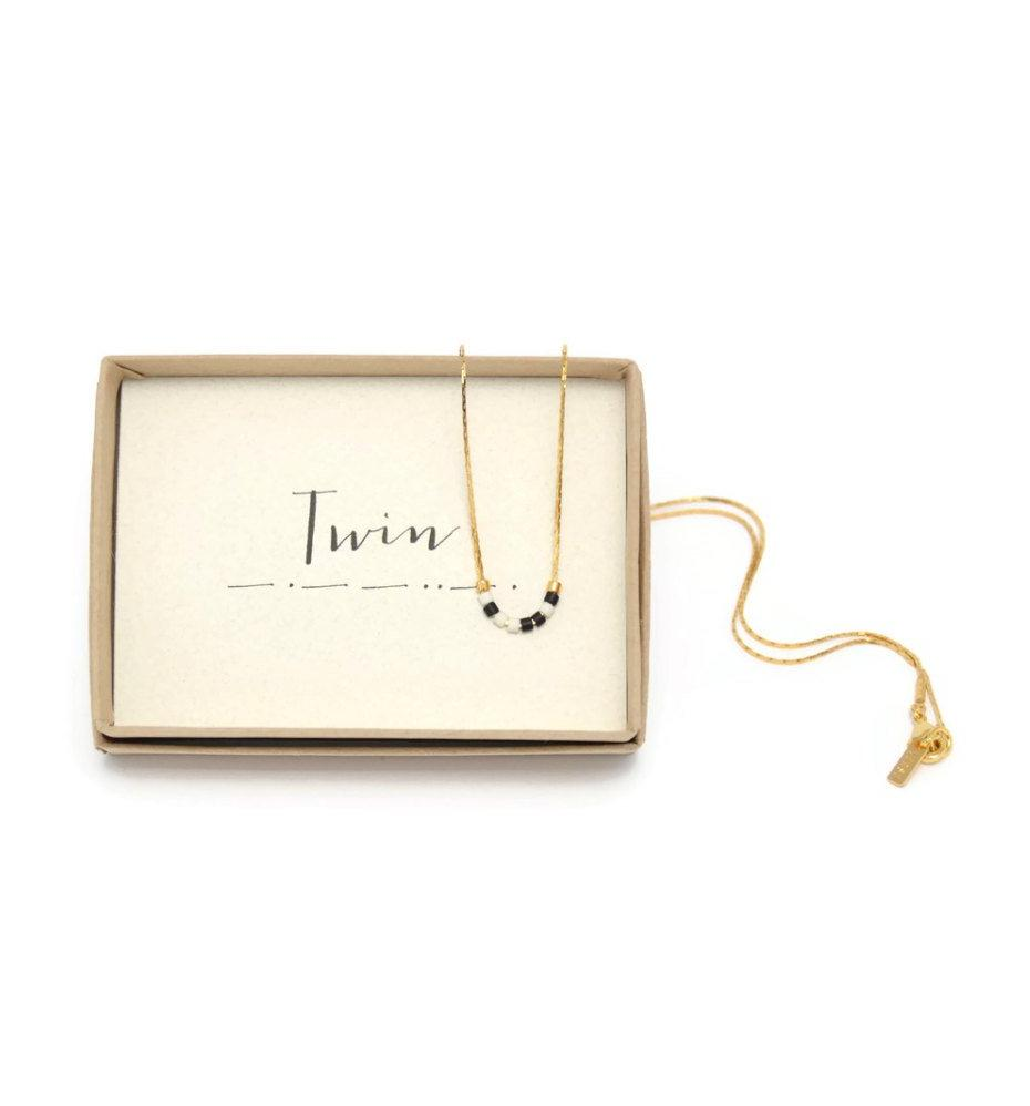 Twin Morse Code Chain Necklace