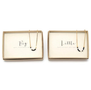 Big & Little Morse Code Chain Necklace Set