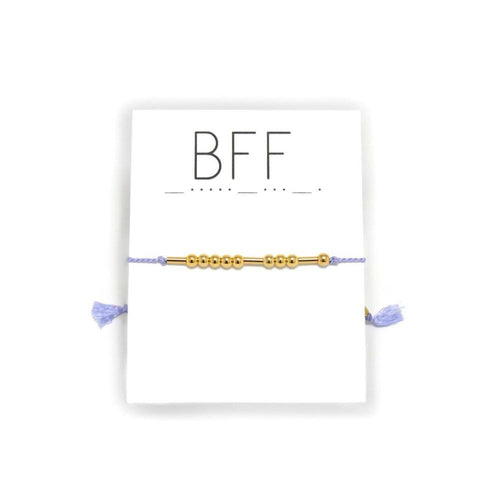 BFF Morse Code Adjustable Silk Bracelet