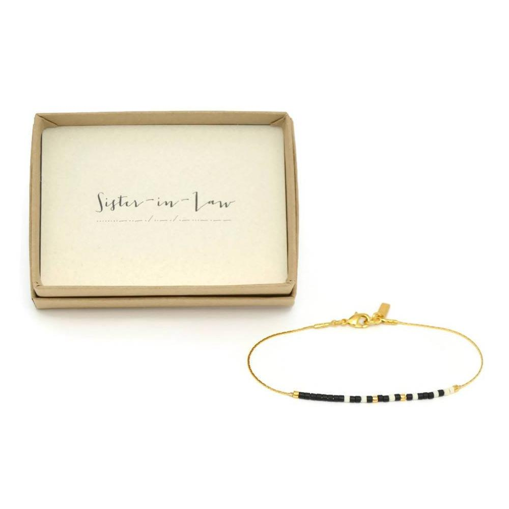 Sister In Law Morse Code Chain Bracelet