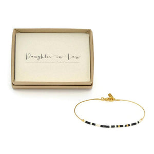 Daughter In Law Morse Code Chain Bracelet