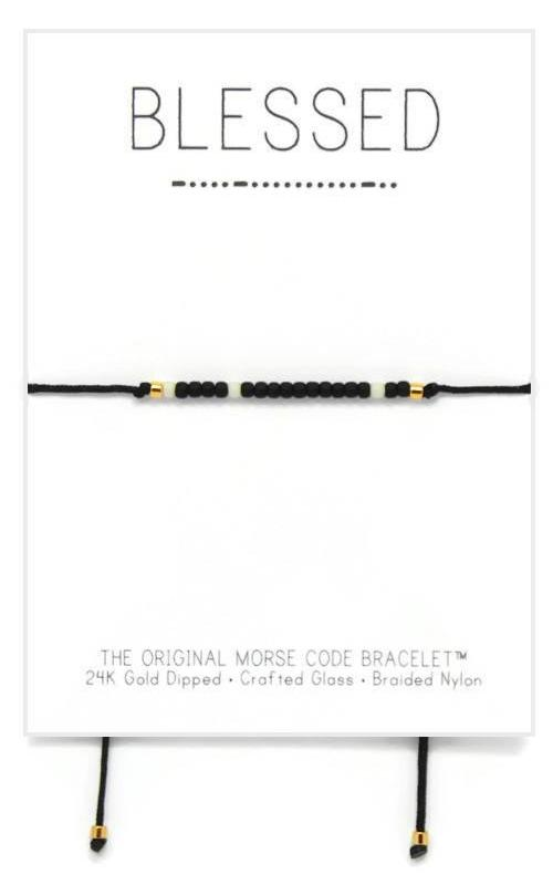 Blessed Morse Code Adjustable Nylon Bracelet