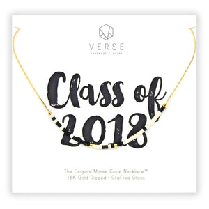 Class of 2019 Morse Code Chain Necklace