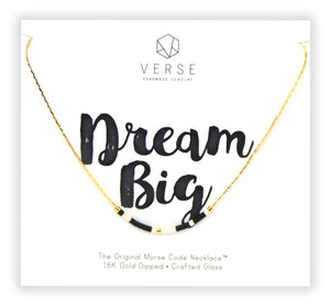 Dream Big Morse Code Chain Necklace