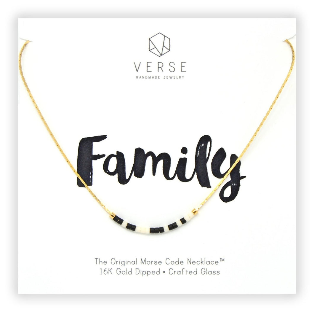 Family Morse Code Chain Necklace