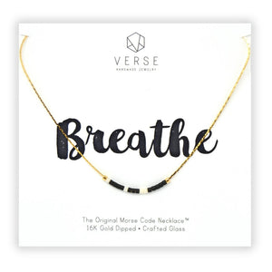 Breathe Morse Code Chain Necklace