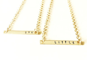 Sorority Sister Small Bar Chain Necklace