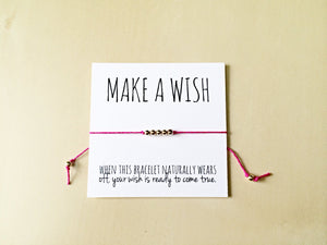 Make a Wish Bracelet, White Card