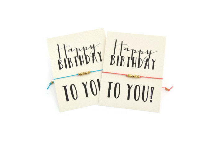 Happy Birthday To You Wish Bracelet